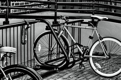 Black And White Art Photograph - Bikes  by Christopher  Jones