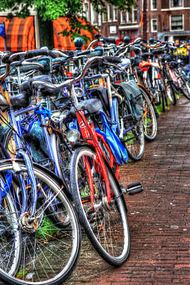 Stone Pathway Photograph - Bikes In Amsterdam by Sophie Vigneault