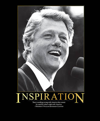 Arkansas Photograph - Bill Clinton Inspiration by Retro Images Archive