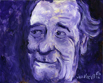 Saturday Night Live Painting - Bill Murray In Blue by Jon Griffin