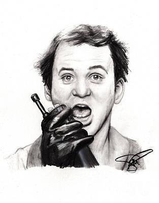 Markle Drawing - Bill Murray by Rosalinda Markle