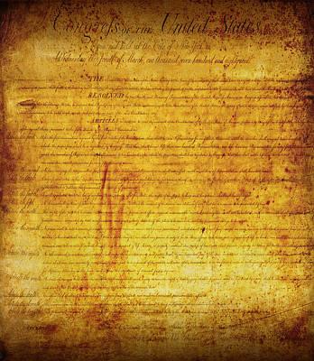 U.s Mixed Media - Bill Of Rights by Daniel Hagerman