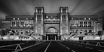 Bill Snyder Family Stadium - Bw Print by Thomas Zimmerman