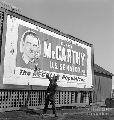 Billboard For Senator Joe Mccarthy 1948 Print by The Phillip Harrington Collection