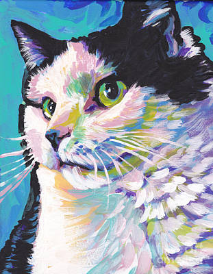 Childrens Portraits Painting - Billi Cat Baby by Lea S