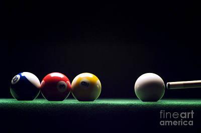 Pool Photograph - Billiard by Tony Cordoza