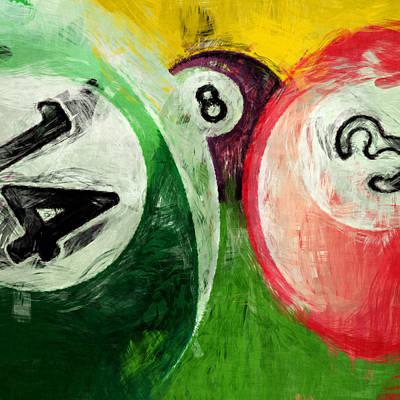 3.14 Digital Art - Billiards 14 3 8  by David G Paul