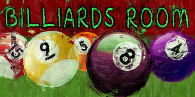 Numbers Digital Art - Billiards Room Abstract  by David G Paul