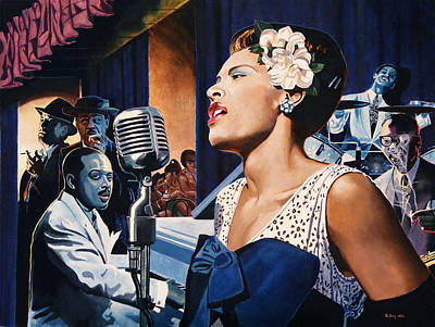 Billie Holiday - Lady Sings The Blues Print by Jo King