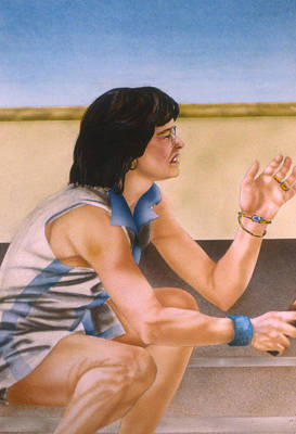 Wimbledon Painting - Billie Jean King by Phil Welsher
