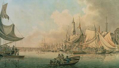 Billingsgate At High Water Print by Robert Cleveley