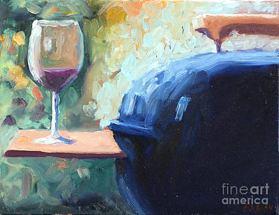 Winery Painting - Bill's Grill by Todd Bandy