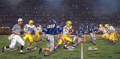 University Of Illinois Painting - Billy Cannon's Halloween Heisman Haul by Mike Roberts