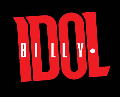 Billy Idol Photograph - Billy Idol - Logo by Epic Rights
