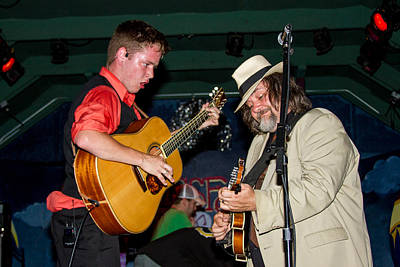 Blissfest Print featuring the photograph Billy Strings  And Don Julan by Bill Gallagher