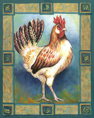 Billy The Rooster Print by Linda Mears