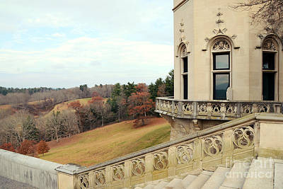 Staircase Photograph - Biltmore Estates Garden Terrace Staircase View - Biltmore Autumn Fall Woodlands by Kathy Fornal