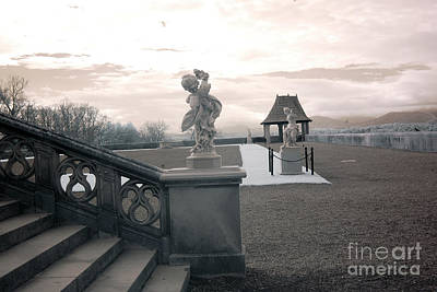 Biltmore House Italian Garden Sculpture Architecture Print by Kathy Fornal