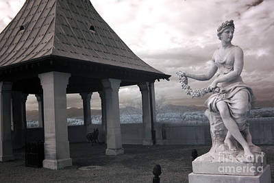 Asheville Photograph - Biltmore Italian Garden Gazebo - Biltmore House Statues Architecture Garden by Kathy Fornal