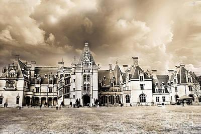 Biltmore Mansion Estate Architecture - Biltmore Estate Mansion Asheville North Carolina Print by Kathy Fornal