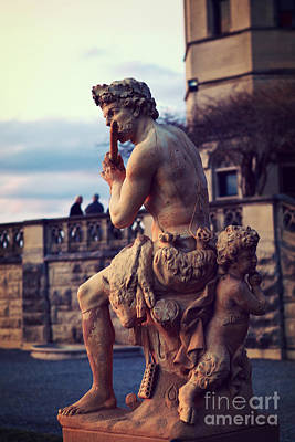 Biltmore Mansion Estate Italian Sculpture Art - Biltmore Statues Italian Archictecture Print by Kathy Fornal