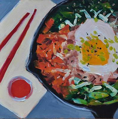 Painting - Bibimbap by Mary Byrom