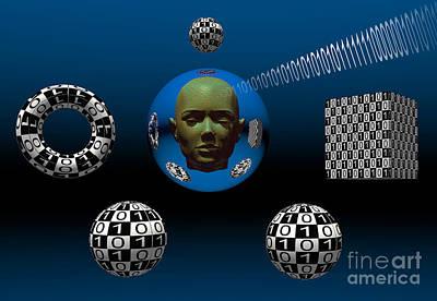 Binary Language, A Universal Means Print by Mark Stevenson