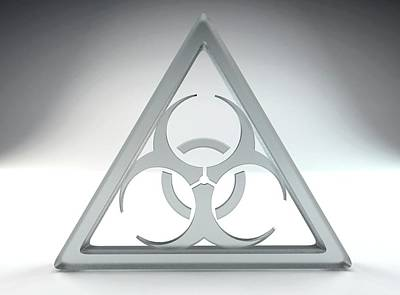 Biohazard Sign Print by Tim Vernon
