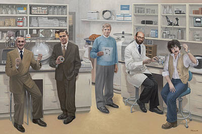 Inventor Painting - Biotechnology Pioneers Of Silicon Valley by Terry Guyer