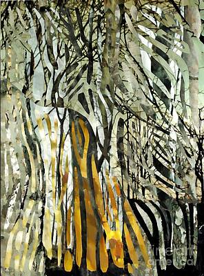 For Business Mixed Media - Birch Forest by Sarah Loft