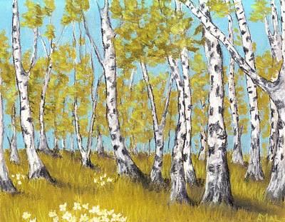 Tree Painting - Birch Grove by Anastasiya Malakhova