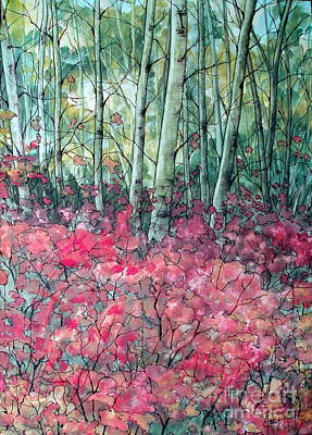 Forest Floor Painting - Birch Grove by Joey Nash