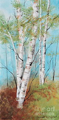 Birch Ridge Print by Deborah Ronglien