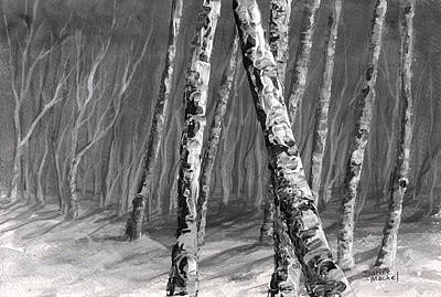 Landscape Painting - Birch Trees by Darice Machel McGuire