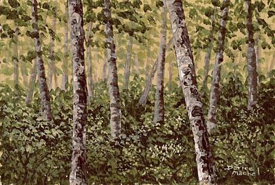 Landscape Painting - Birch Trees In Spring by Darice Machel McGuire