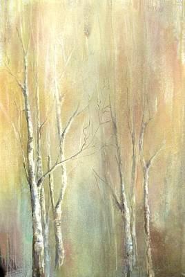 Birch Trees Original by Karen Hale