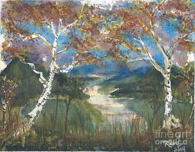 Birch Trees On The Ridge  Original by Reed Novotny