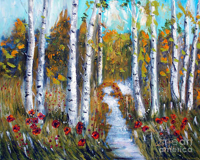 Tolan Painting - Birch Trees by To-Tam Gerwe