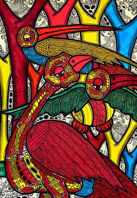 Flutter Painting - Bird Life by Muktair Oladoja