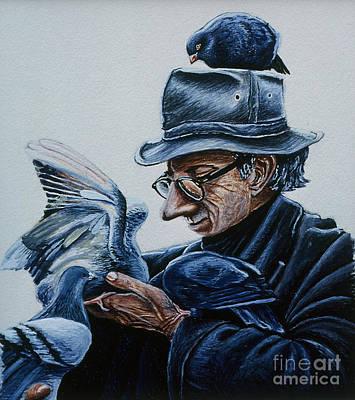 Bird Man Original by Karen Wheeler