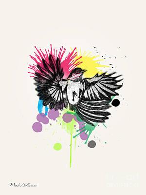 Owl Drawing - Bird by Mark Ashkenazi