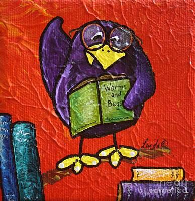 Limbbirds Painting - Bird Nerd II by LimbBirds Whimsical Birds