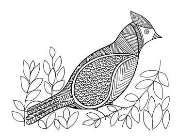 Bird North Cardinal Print by Neeti Goswami