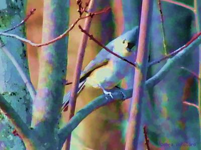 Nature An Bird Painting - Bird Of Another Color by Debra     Vatalaro