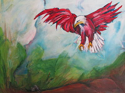 Bird Of Prey Print by Paul Kilyanek