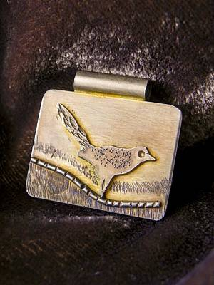 Sterling Silver Jewelry - Bird On A Wire by Patricia  Tierney