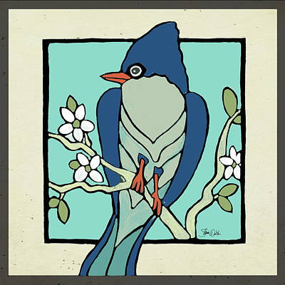 Blue Jay Painting - Bird Three by Shanni Welsh