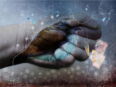 Birdie Paintress Print by Barbara Orenya