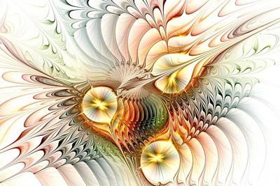 Pastel Digital Art - Birds by Anastasiya Malakhova