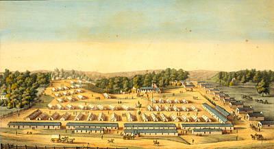 Washington D.c Drawing - Birds-eye View Of Cliffburne Hospital, Washington by Litz Collection